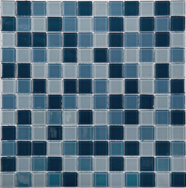 Сине голубая мозаика из стекла A11