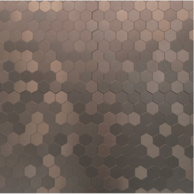 Темно-коричнеый шестиугольная мозаика из камня TL309