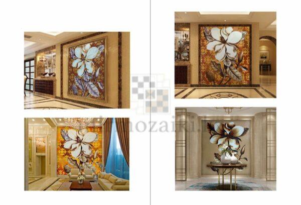Художественное панно из мозаики Sicis gold flower