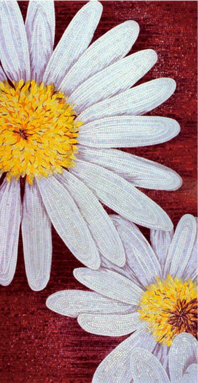 Художественное панно из мозаики Sicis chamomile flower