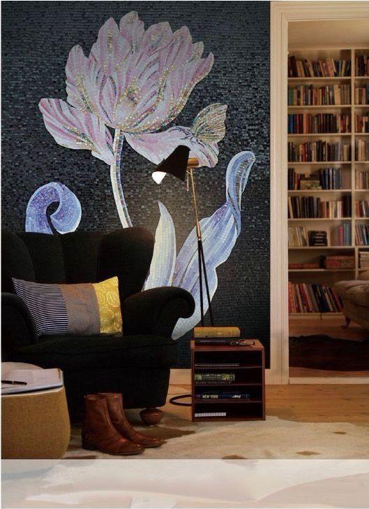 Художественное панно из мозаики Sicis lone flower