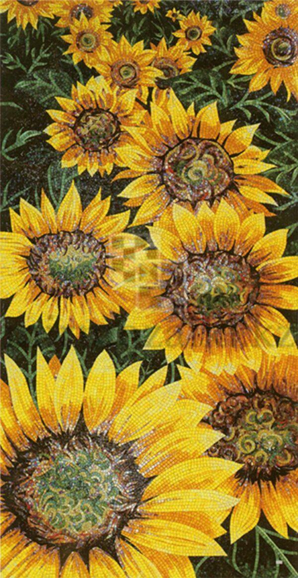 Художественное панно из мозаики Sicis sunflower