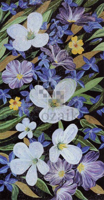 Художественное панно из мозаики Sicis violets flower
