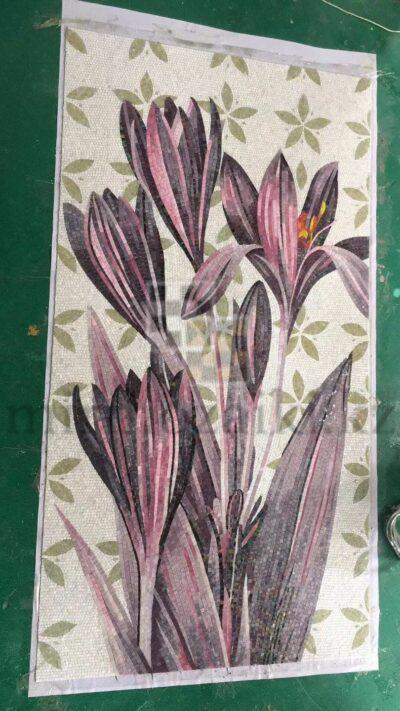 mirmozaiki.kz panno Художественное панно из мозаики Sicis purple flower