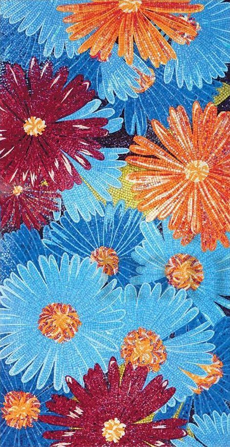 Художественное панно из мозаики Sicis colorful flowers