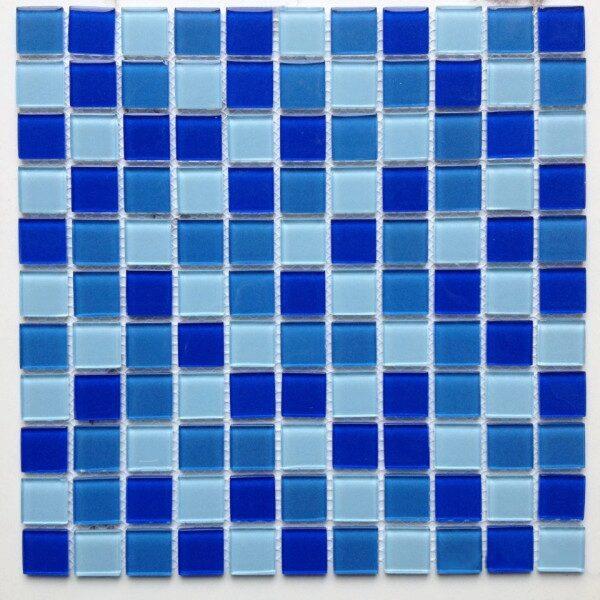 Трех цветная мозаика из стекла A25