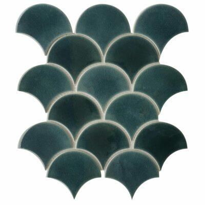 Темно серая керамическая мозаика чешуя ХL8507 Mirmozaiki.Kz