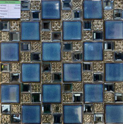 Керамическая мозаика синего цвета YT 009