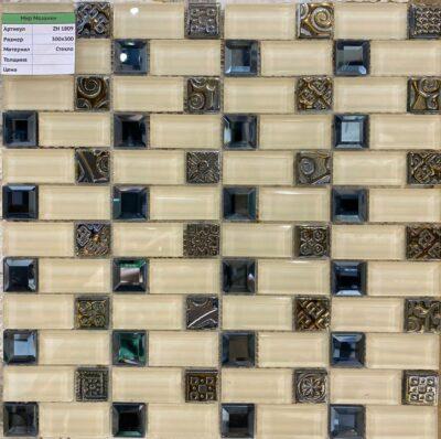 Мозаика бежевая со вставками из металла ZH 1809