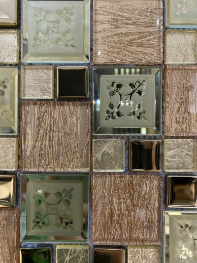 Золотая мозаика со вставками из металла ZH 1809
