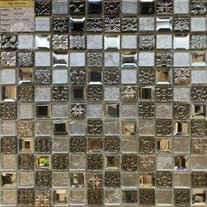 Серебряная стеклянная мозаика JB 2301