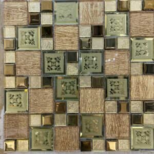 Золотая стеклянная мозаика JB 4204