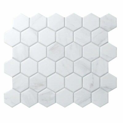 Плитка мозаика соты из керамики под мрамор Mirmozaiki.Kz 1
