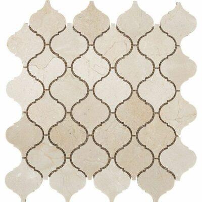 Арабеска мозаика из камня цвета травертина