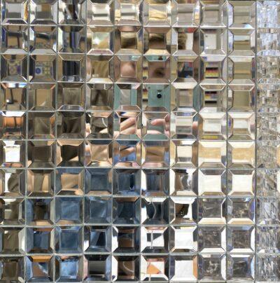 Зеркальная стеклянная мозаика B001 мозаика из зеркала с фаской