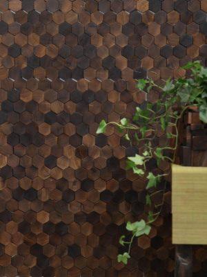 Шестиугольнная деревянная мозаика hexagon wood