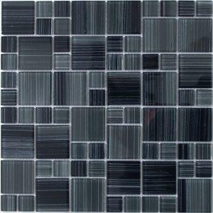 Черно серая мозаика из стекла HP4211